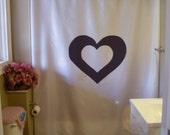 double love heart shower curtain valentine romance romantic amour bathroom decor kids bath curtains custom size long wide waterproof
