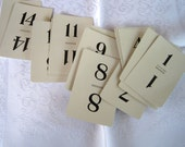 Table Number Cards - Wedding Table Numbers - DIY Wedding Decor Numbers