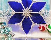 Cobalt Christmas Tree Topper (Ships by Dec 14th) LAST ONE