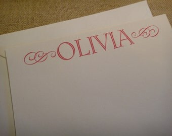 Custom Stationery Personalized Stationary - Flourish