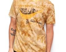 vintage tie dye SLOTH lazy tie dye 90s COTTON t-shirt