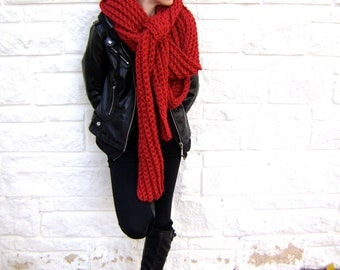 Crochet Scarf PATTERN - for Mile Long Scarf Cowl - High End Look - Hand Made Goodness - Instant Download