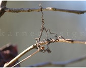 I hang on you, twigs connected by vines hanging in the sunshine, Fine Art Photography, brown, grey, black, fall decoration, country living