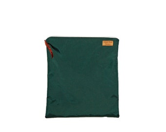 Gallon Size Reusable Bag - Waterproof Forest Green Nylon