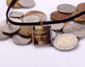 Star Trek Necklace Upcycled DS9 TCG in Antique Brass - Ferengi Necklace, Trekkie Necklace, Deep Space Nine, CLEARANCE 75% OFF