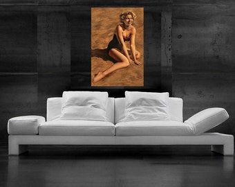Marilyn Monroe Painting Pop Art Canvas Print