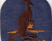 Sydney New South Wales Australia Collectible Kangaroo City  Vintage 1970's Sewing Patch Applique