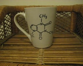 Caffeine Chemical Compound Mug (Right-Handed)