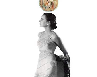 Camisole and Panties Circa 1949 - Vintage Digital Pattern to Knit -  PDF Email Delivery - PrettyPatternsPlease