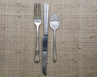 Vintage Silverware Garden Markers Knife, Fork, Spoon Set