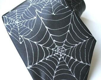 Spiders Web , Spider tie, Spider Necktie MADE TO ORDER