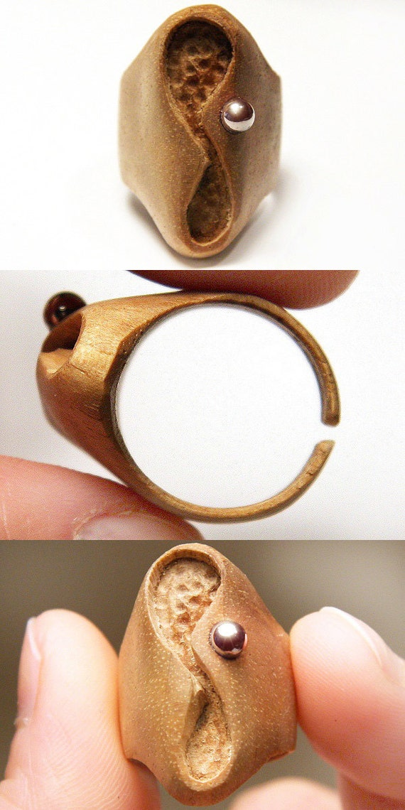 infinity ring eco friendly hand carved wooden by kapkadesign