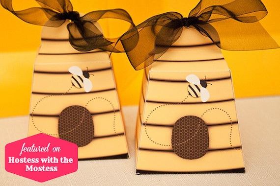 BEEHIVE Favor Box - DIY Printable PDF