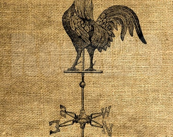 INSTANT DOWNLOAD - Vintage Rooster Weather Vane - Download and Print - Image Transfer - Digital Sheet by Room29 - Sheet no. 1025