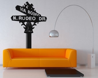 Vinyl Wall Decal Sticker Rodeo Drive Sign OSAA560m
