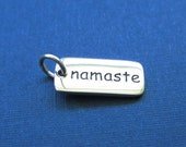Sterling Silver 'Namaste'  Word Charm