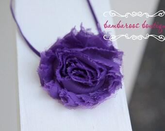 shabby chic baby headband, purple baby headbands