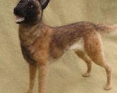 Needle felted dog, custom pet portrait, pose-able sculpture, memorial