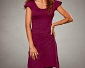 Star Burst Short Sleeved Dress - Casual Dress - Dresses