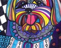 Yorkipoo Art  art dog  Art Print Poster by Heather Galler Painting - Heather Galler (HG916)