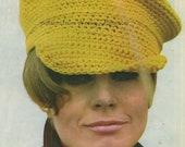 Crochet Baker Boy Cap PDF Vintage Pattern 292 from WonkyZebra