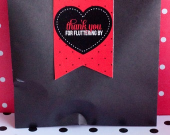 Ladybug Party PRINTABLE Favor Tags (INSTANT DOWNLOAD) by Love The Day