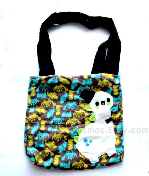 Dinosaur Print Tote Bag - Cute Backpack , Kawaii Bag , Market Bag , Schoolbag