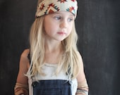 Aztec Bandana headband southwest geometric fabric . tribal hair accessories . little girl headband . cowgirl . bandana .