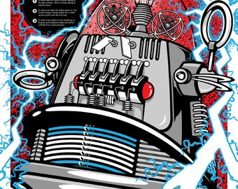 Three Laws of Robotics - Robby The Robot Poster