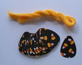 50 Halloween Candy Corn gift tags with strings