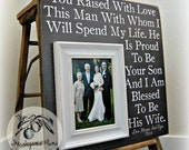 Mother of the Groom Gift, Parent Wedding Gift, Man Of My Dreams, 16x16 The Sugared Plums Frames