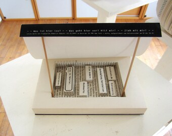 Book Art: Blackbox - Book sculpture No. 59