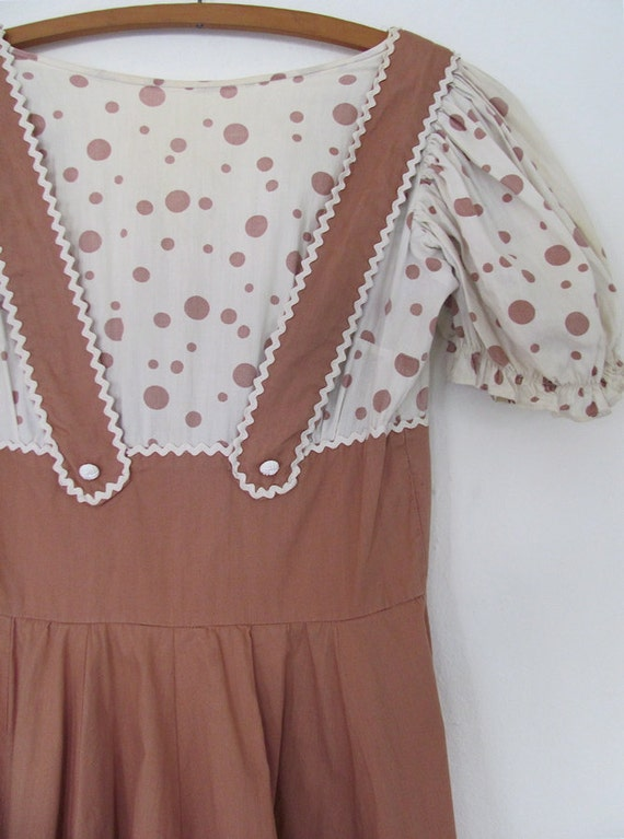 The Vintage Brown and Polka Dot Children's Dress