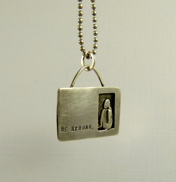 Sitara Is Strong - Upcycled Sterling Silver And PMC - Art Jewelry Pendant - 823