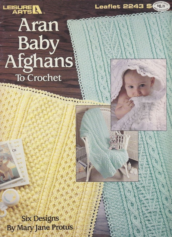 Crochet Aran Baby Blanket Pattern : Aran Baby Afghans Crochet Patterns by PaperButtercup on Etsy