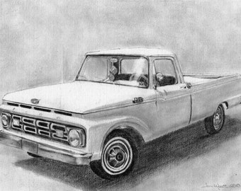 Custom Pencil Portrait From Your Photo - 11x14 Original Car Truck Sketch Drawing From Your Picture