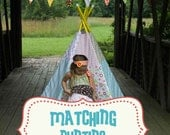 MATCHING Fabric Bunting-Banner to Purchased Teepee
