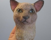 Siamese Cat Anthro Art Doll Bust