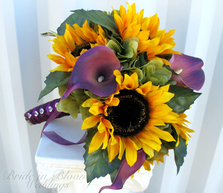 Sunflower Wedding Bouquet Ideas: Wedding Bouquet Brides Bouquet Sunflower By