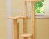 72 Inch Four Level Cat Tree with Cedar Posts  - FREE Shipping