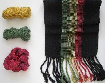 Handwoven Rasta Scarf Organic Cotton