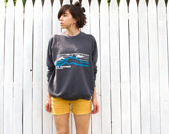 Vintage Mt. Rainier Sweatshirt - Mens Large 42-44 - 1980s