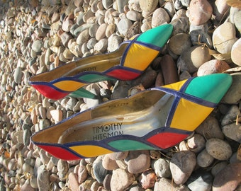 Vintage Multi-Color Heels by Timothy Hitsman- 8M