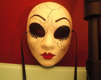 Dollface Mask - Cracked design Twisted Metal Cos play Doll face mask
