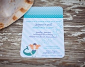 Mermaid Birthday Party Invitation- Printable