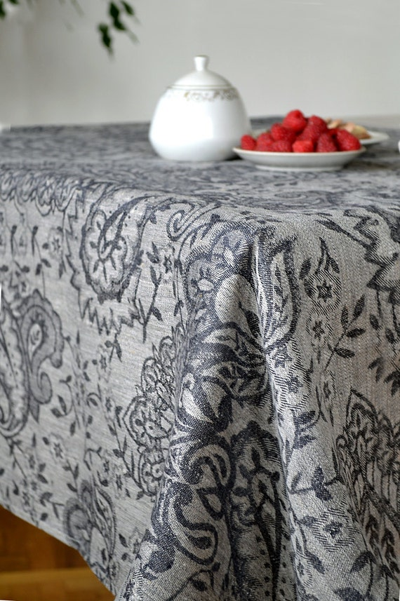 Black Linen Tablecloths Luxury Damask Tablecloth Black With