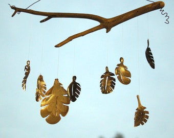 Silver Spoon Fall Leaf Wind Chime, Silver Holly Leaf, Maple Leaf, Leaves On A Tree, Christmas Leaves , Metalic Leaf Ornament, Faux Plants