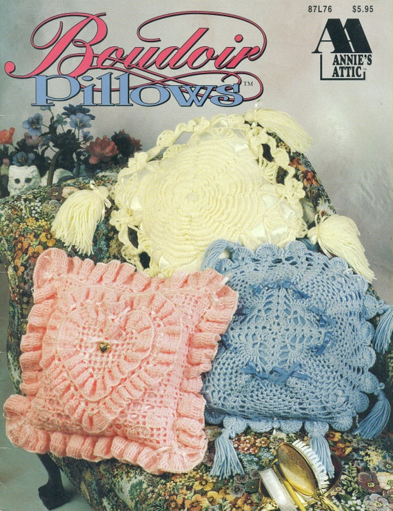 BOUDOIR PILLOWS Annies Attic CROCHET Ann by patternpeddlerannex