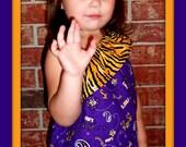 One shoulder LSU Tigers Dress sizes 12mt, 18mt, 2T