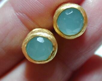 Gold ocean earrings ,Stud gold earrings ,Casual boho earrings